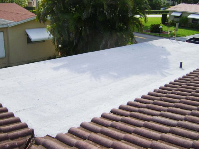 residential flat roof replacement oakland park florida 2